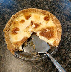 Secret Recipe Old Fashion Sugar Cream Pie #sugarcreampie