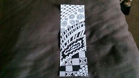 Zentangle Bookmark 31.5.15
