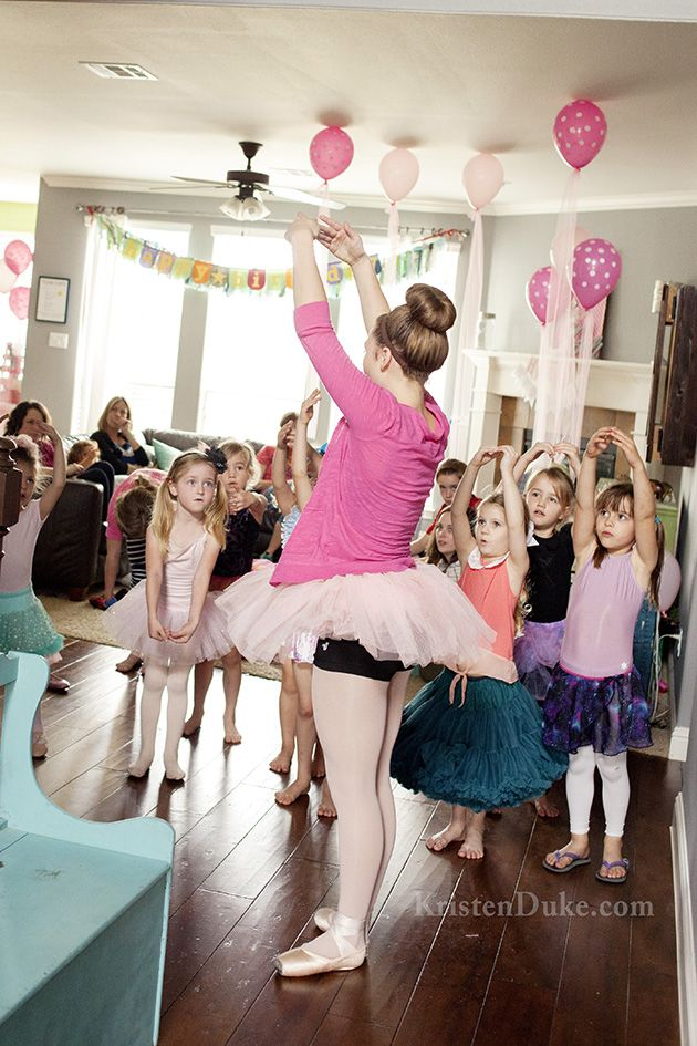 Ballerina Birthday Party - ideas for decor, entertainment, food, and games by KristenDuke.com
