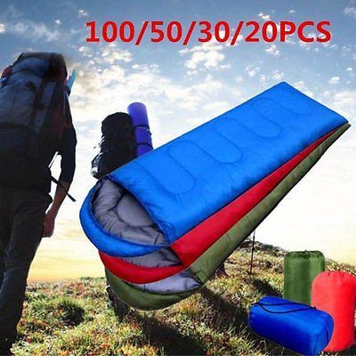 100pcs waterproof adult 3 season camping #hiking portable #envelope #sleeping bag,  View more on the LINK: http://www.zeppy.io/product/gb/2/262714133217/