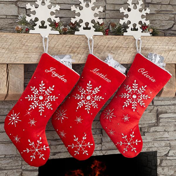 RED Personalised//Plain LUXURY PLUSH LINED Christmas XMAS Stocking