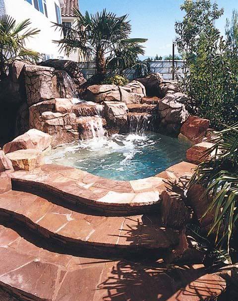 how to build inground concrete hot tub