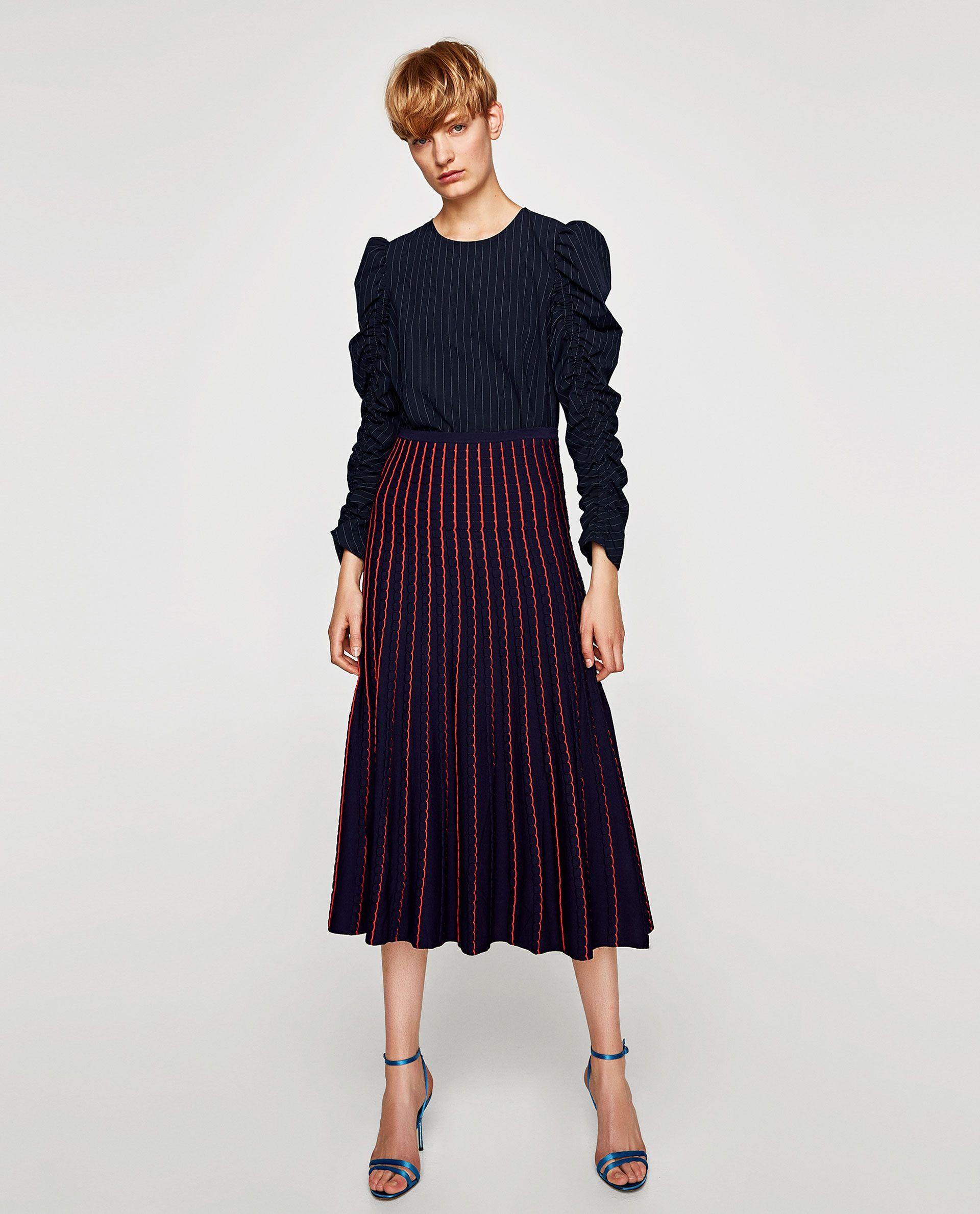 573030e80e FALDA MIDI PUNTO | Spring summer 2917 | Midi Skirt, Skirts, Zara women