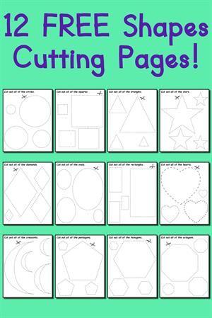 12 Shapes Tracing Worksheets Kindergarten Math Pinterest