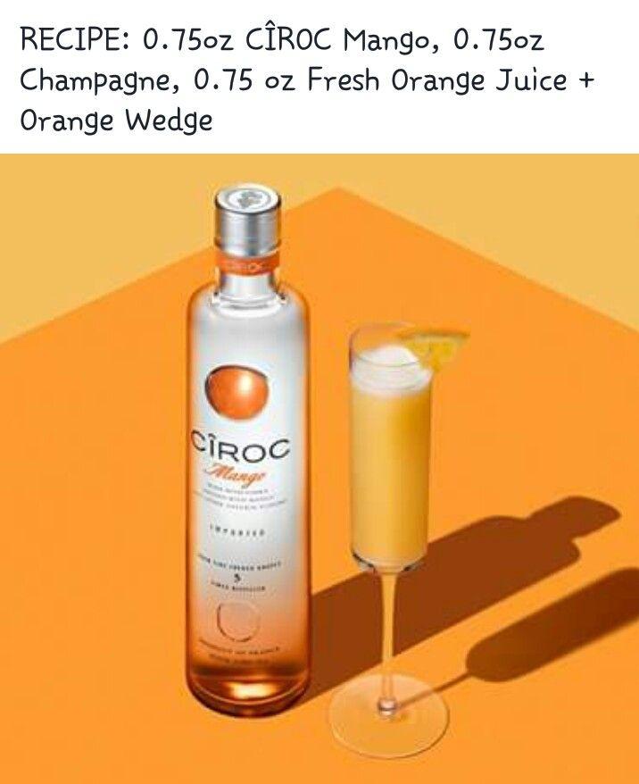 Ciroc Mango Mimosa Mango Drinks Spirit Drinks Ciroc Drinks