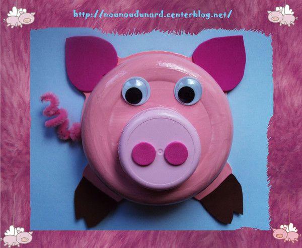 Bevorzugt Lison a réalisé un cochon tout mignon | activités manuelles  NR79
