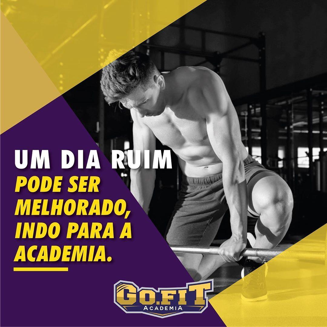 Até nos dias ruins, ir para academia pode ser a melhor opção! #vemsergofit #motivacao#fitnessquote...