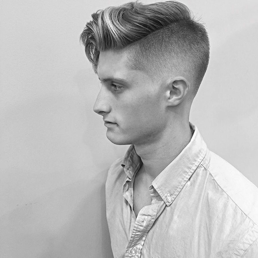 Fade haircut styles for white men  medium length hairstyles for men  taper fade long fringes and