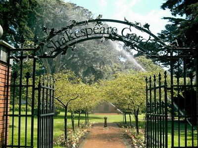 Shakespeare Garden in Golden Gate Park. The perfect place to get married.