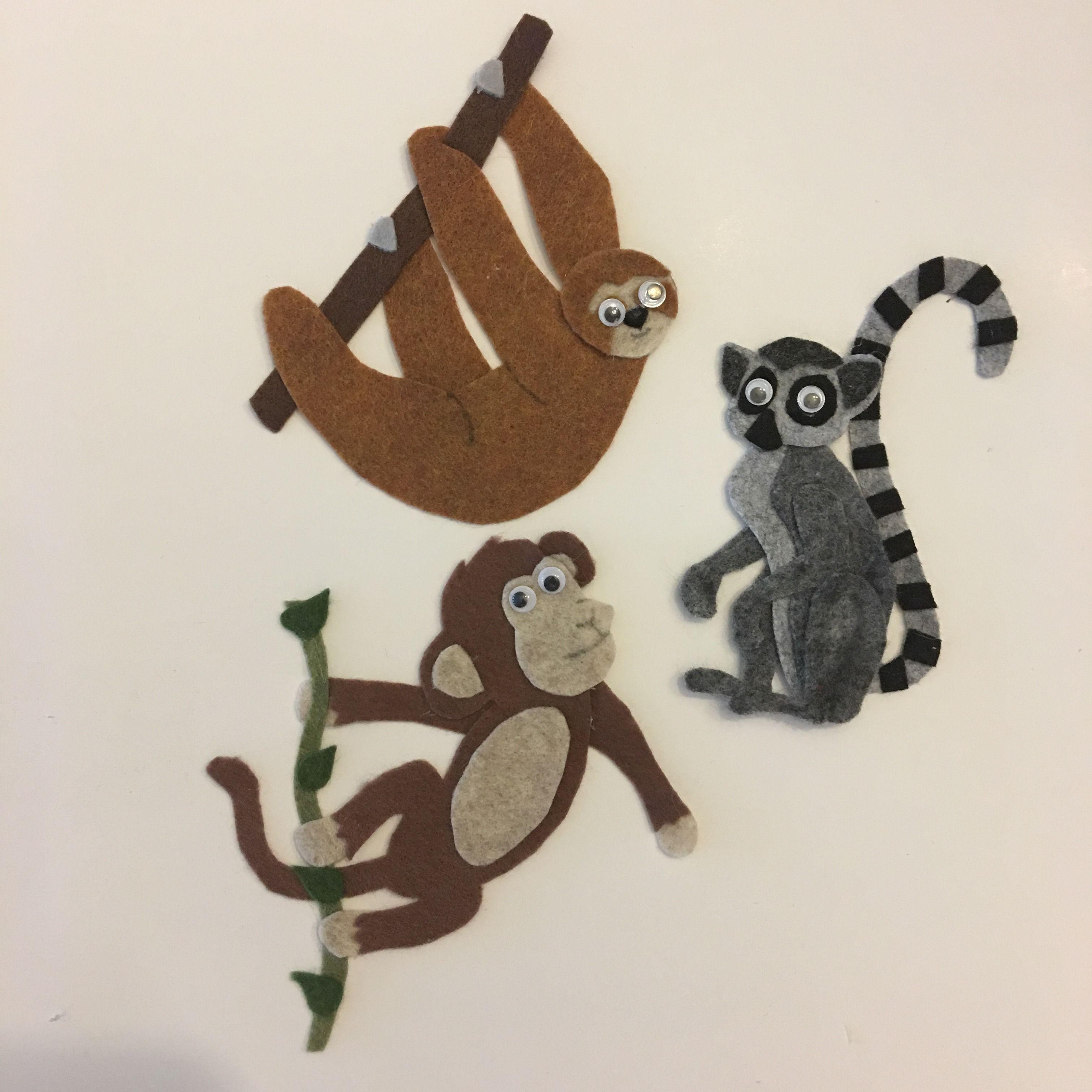 Felt Die cuts 3 handmade squirrels with acorns Embellishments Card topper.