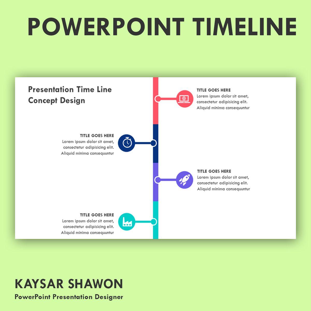 powerpoint timeline design personal presentation
