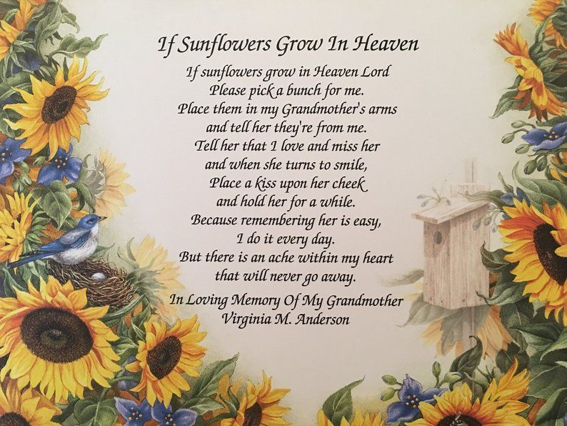 Sunflower Poems For Her Google Search Mom In Heaven Pastors Wife Appreciation Mom Poems