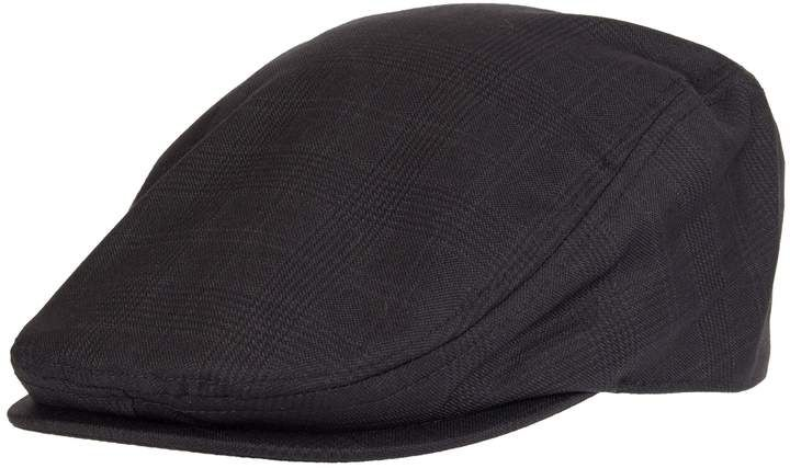 a3b5ac4d193fb Dockers Men s Plaid Flat-Top Wool-Blend Ivy Cap