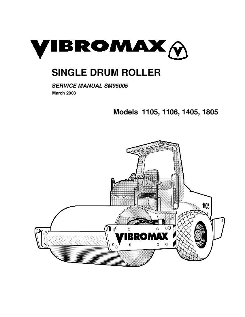 JCB Vibromax 1105 1106 1405 1805 Single Drum Roller