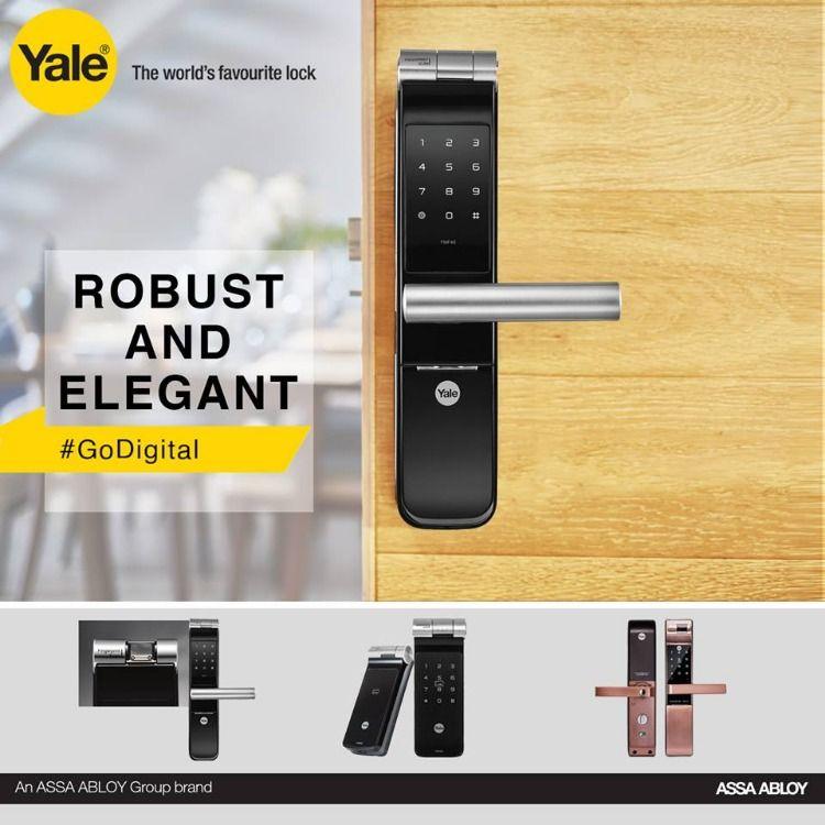 Yale Automatic Door Lock System Rfid Biometric And Pin Access Door Lock System Digital Door Lock Automatic Door