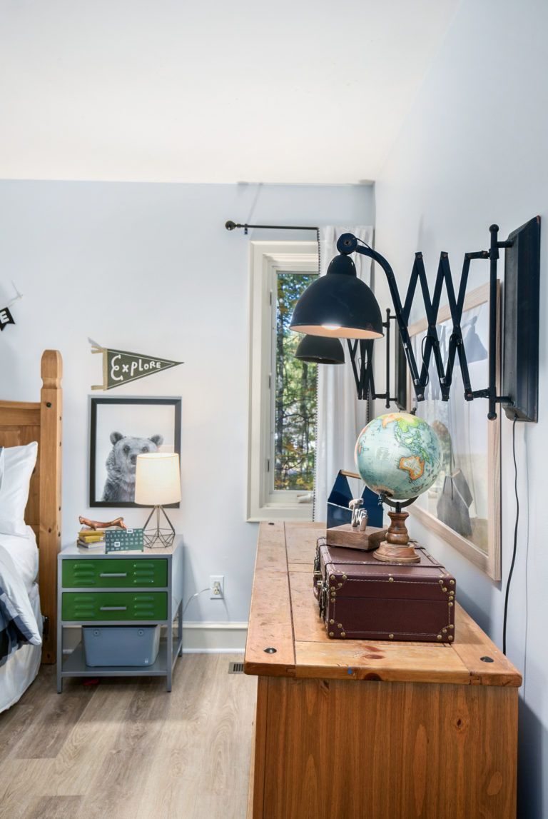 We Re Really Into These Expandable Lights Boy S Adventure Bedroom Makeover By Postbox Designs Interior E Design