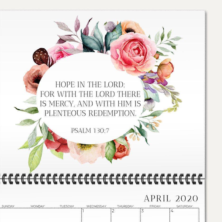 20192020 School year calendar, Scripture wall calendar