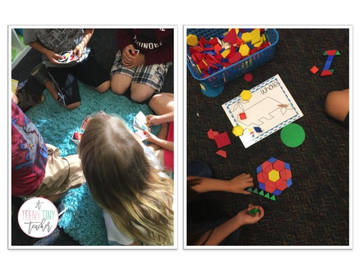 Uno and patterning blocks in math center
