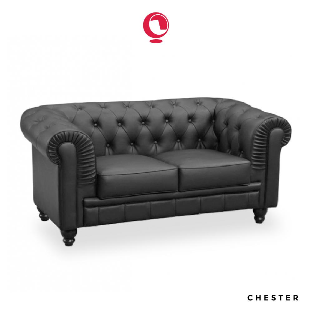 Il divano Chester Ecopelle a due piazze è un classico del design ...