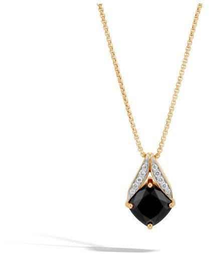 John Hardy Magic Cut Pendant Necklace With Black Onyx Ecdk2On