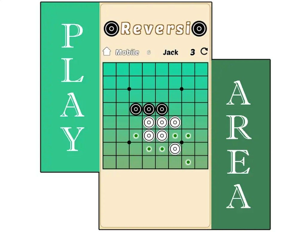 Othello / Reversi Wooden Strategy Game Wooden board