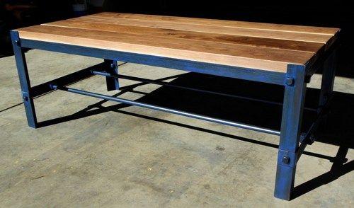 vintage /modern industrial table, rustic art deco, mid century modern    customeffects - Furniture on ArtFire