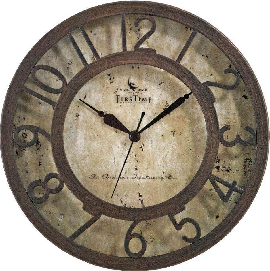 Wall clocks new firstime large vintage round bronze raised