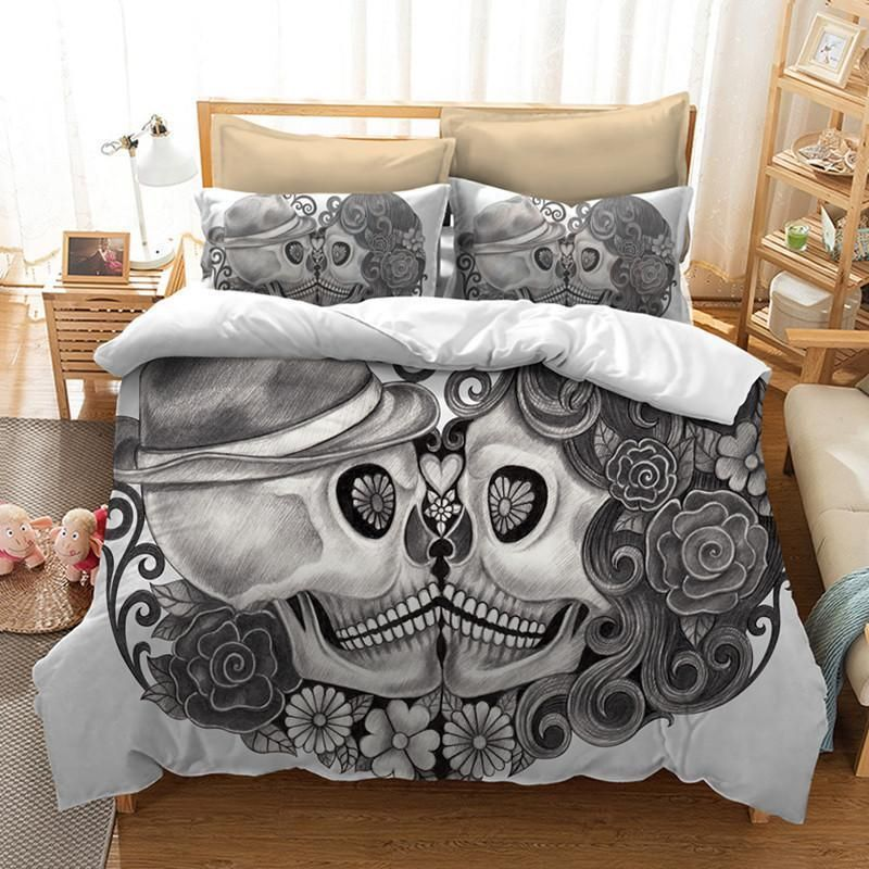 Schädel Paare Bettwäsche Set Bett Bett In 2019 Duvet Bedding