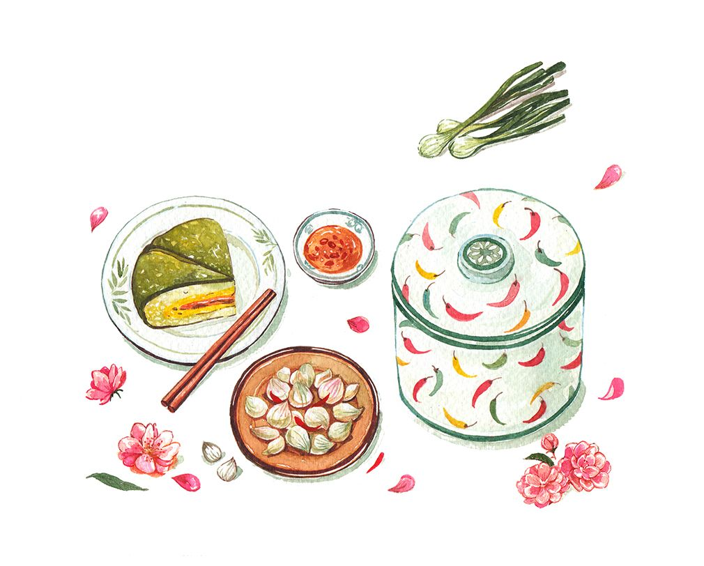 Watercolor food illustrationsclient: Kitchen Art - T-pot Journal ...