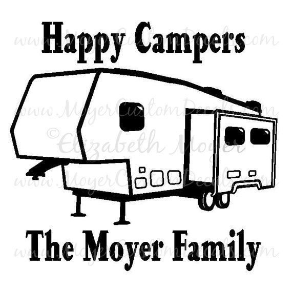 personalized 5th wheel fifth camper camping vinyl decal