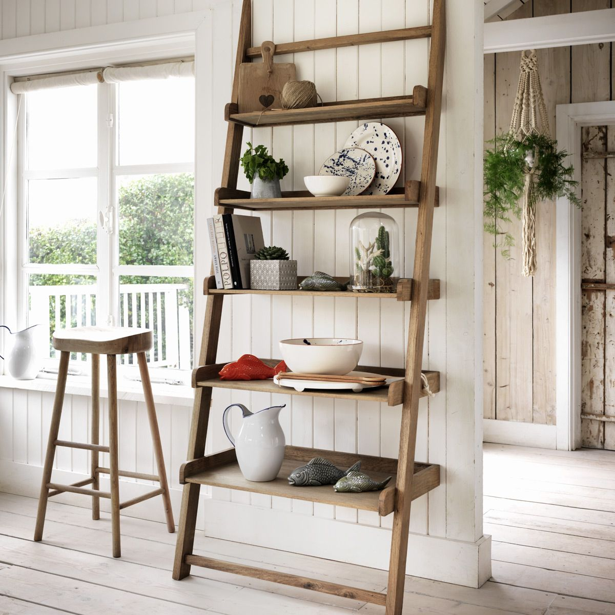 ways to make your home feel bigger leaning shelves shelves and