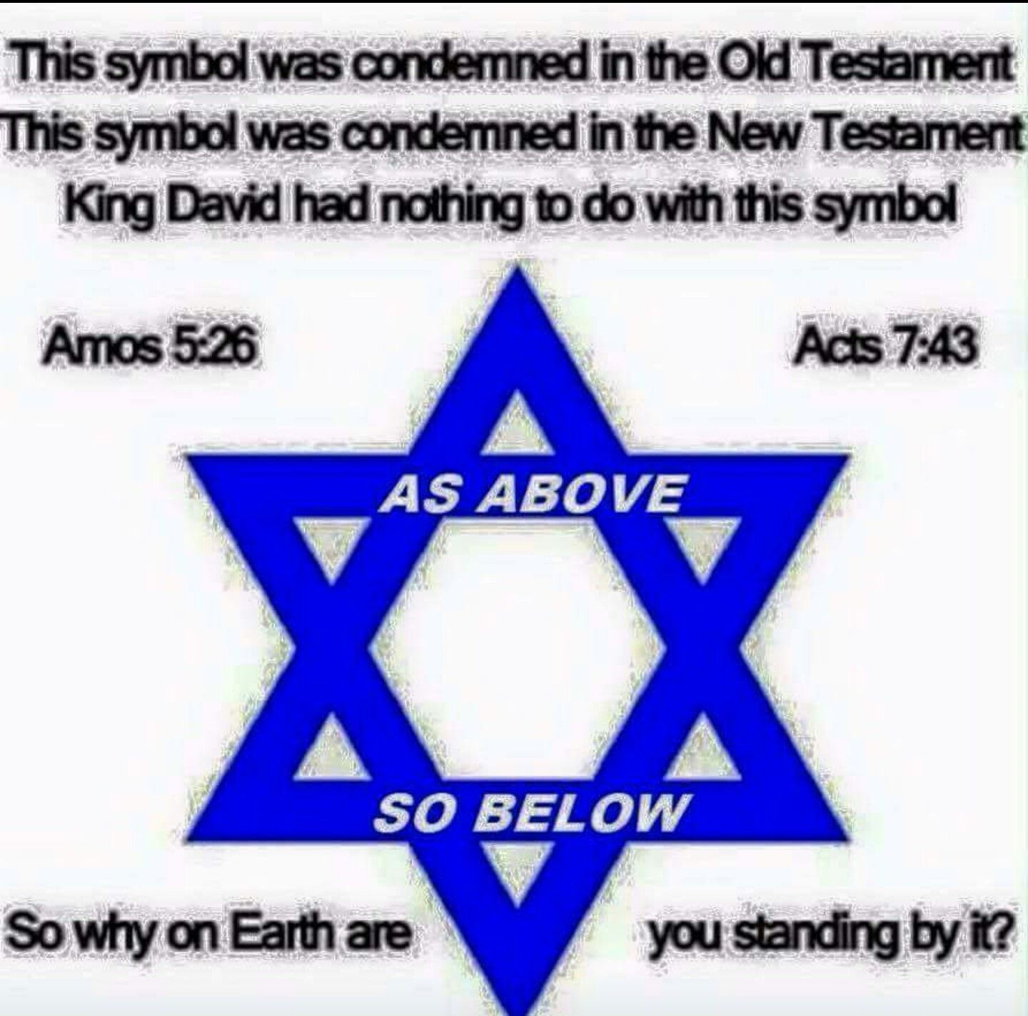 The symbol for biblical israel is the menorah this is the pagan the symbol for biblical israel is the menorah this is the pagan star of remphan biocorpaavc Choice Image