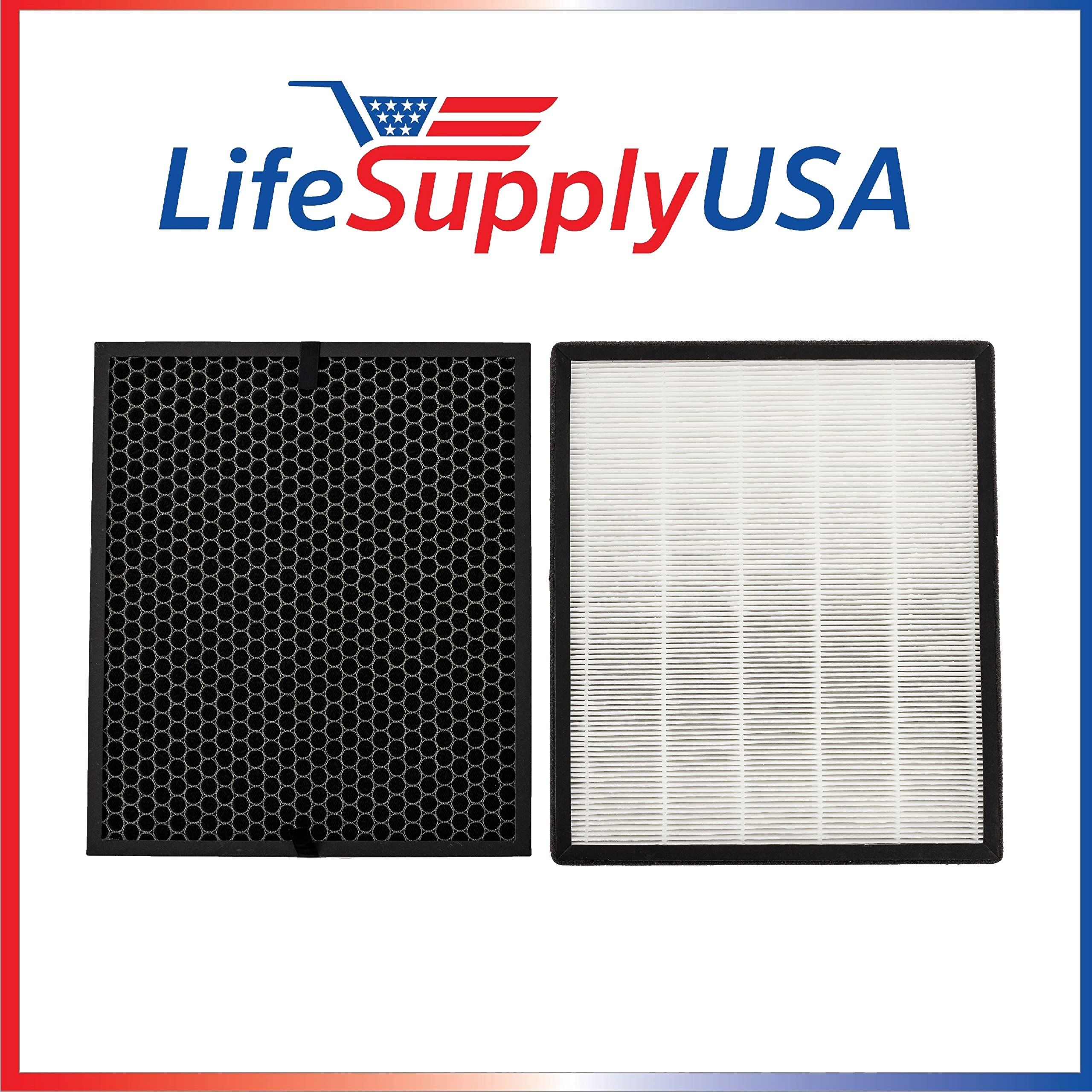 LifeSupplyUSA 4 Replacement Filter Sets for Levoit Air