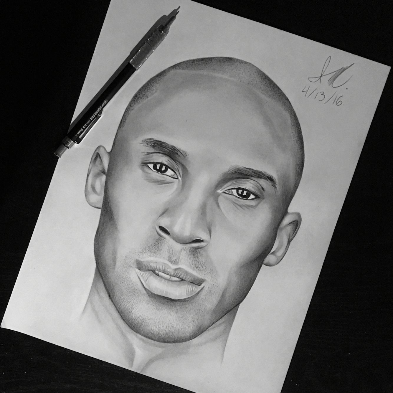 35+ Trends For Face Pencil Drawings Kobe Bryant Drawing Easy