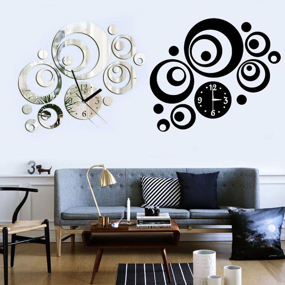 Modern home decor diy 3d mirror sticker round dial artistic wall modern home decor diy 3d mirror sticker round dial artistic wall clock amipublicfo Gallery