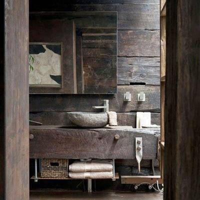 Lavabos de pedra e banheiros rústicos u2026 Banheiros Pinterest Nice - lavabos rusticos