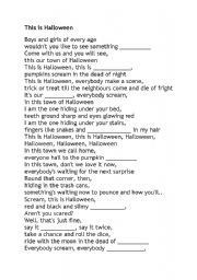 this is halloween lyrics printable   This is Halloween (con imágenes)