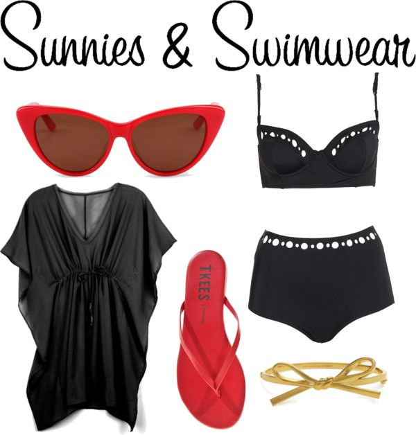 """""""Sunnies & Swimwear"""" by shelby-vickers9 ❤ liked on Polyvore"""