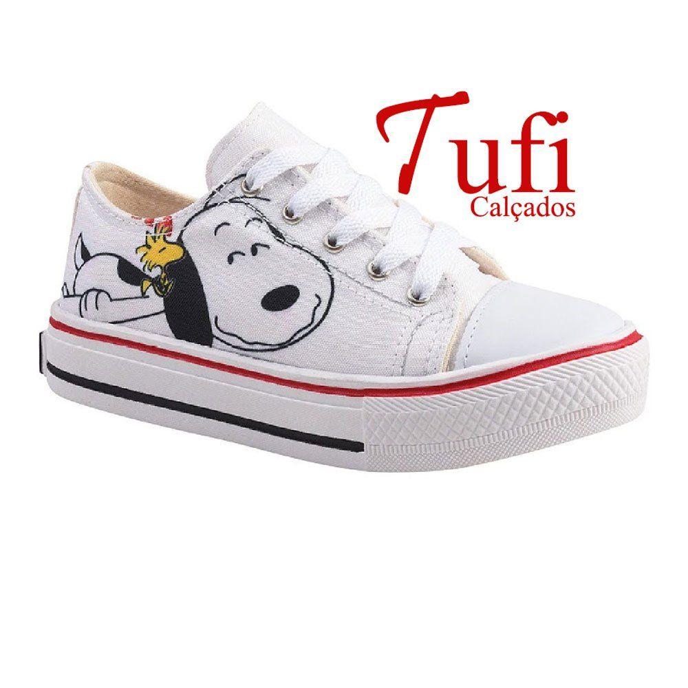 Tênis All Star Snoopy Branco Juvenil Tênis Infantil Tam 28 Ao 35 Tufi Calçados Sapatos Feminino Sua Loja Online Tênis Infantil Sapatos De Bebê All Star