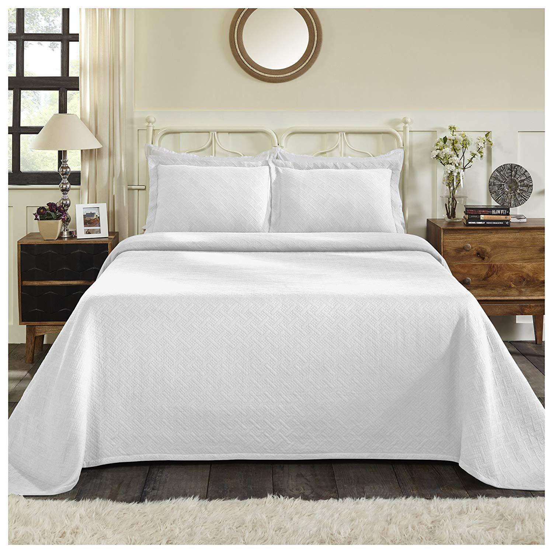 Superior 100 Cotton Basket Weave Bedspread