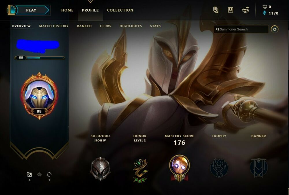 LOL NA League of Legends Account | Iron IV 52 Champions 5