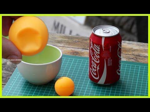 Pallina da ping pong ammaccata? No problem, ecco come ripararla con la Coca Cola
