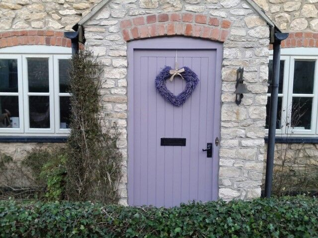 pretty cottage front door farrow and ball brassica with. Black Bedroom Furniture Sets. Home Design Ideas