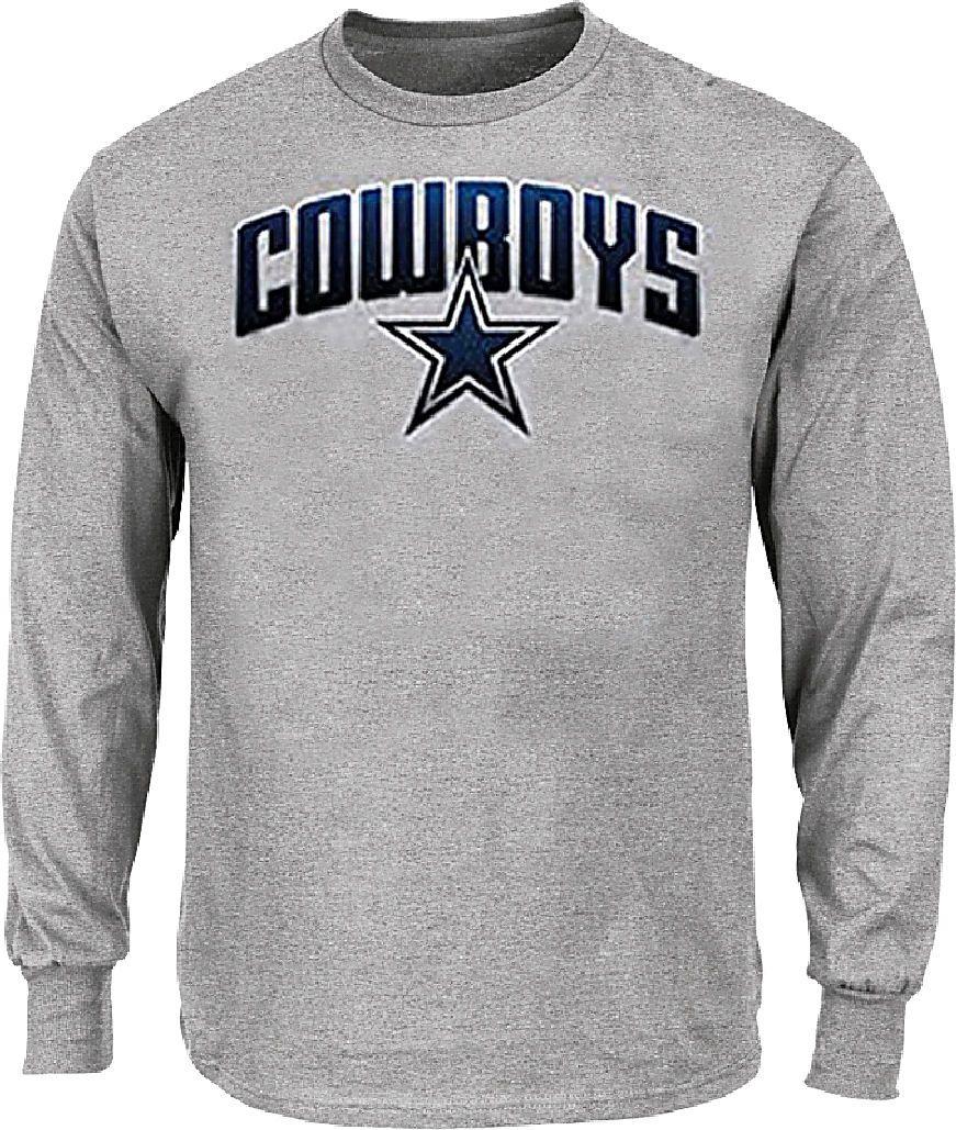 the best attitude c37f0 150b6 Dallas Cowboys Mens Athletic Grey Ascender Long Sleeve Tee ...
