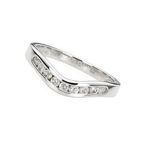 18ct white gold quarter carat diamond wedding ring Product number