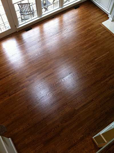 White Oak With Duraseal English Chestnut Stain White Oak