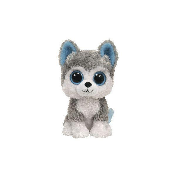 """TY Beanie Boo Slush 6/"""" New Grey//White Husky dog"""