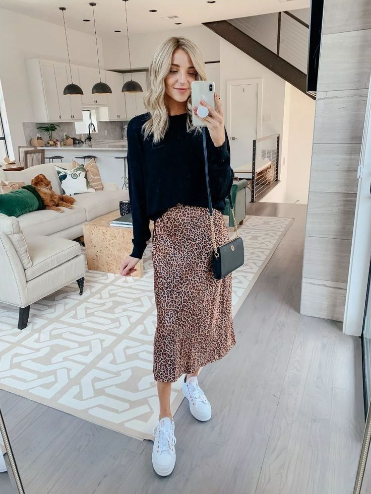 Silk midi skirt leopard print 100% real Soft silk skirt fall color fall trends spring animal print long bias skirt silk clothing women slip #falloutfits2019trends