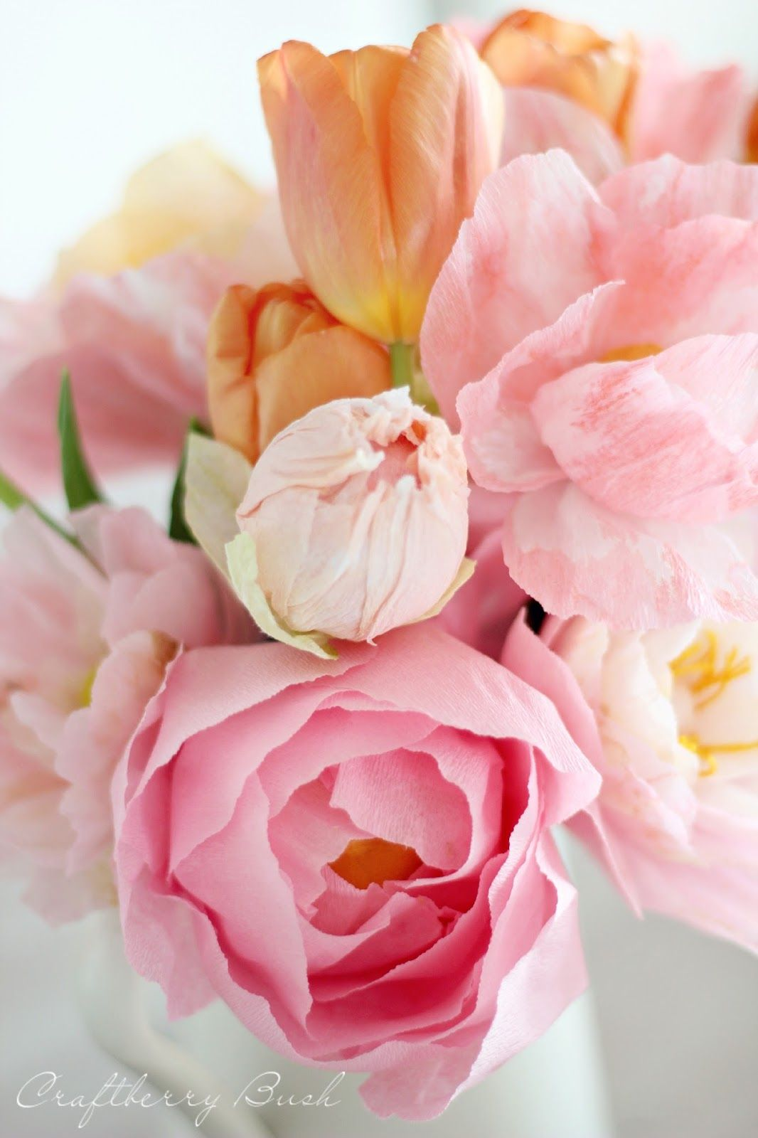 Gorgeous Crepe Peony Tutorial Paper Flowers Paper Flowers