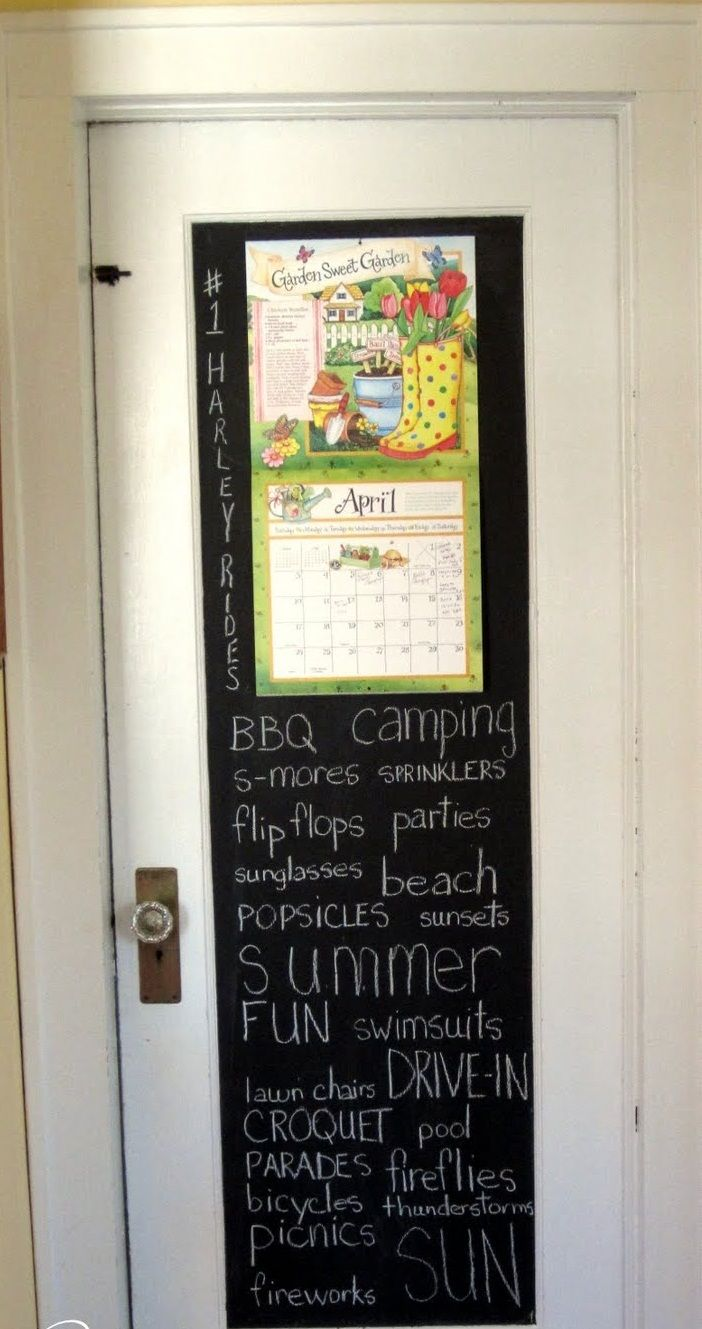 Amazing traditional black board chalkboard door arts design ideas